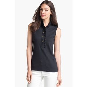 tory burch • lidia sleeveless polo in black